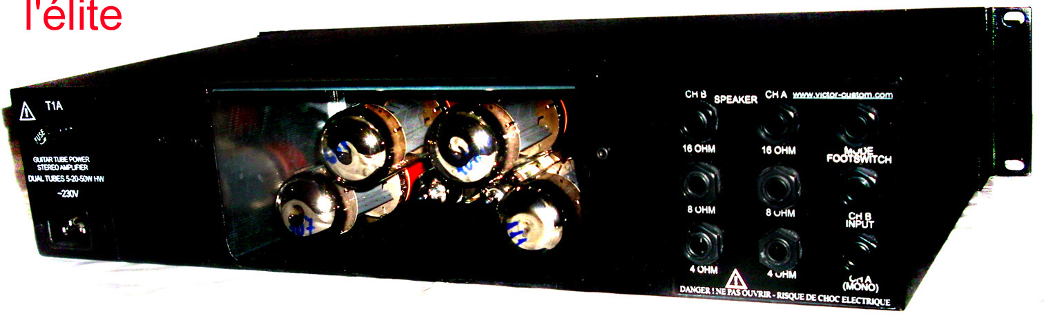 DUAL TUBES 5-20-50W HW  Tube stereo guitar power amplifier