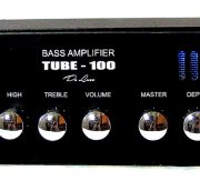 TUBE-100 tube bass rack headwith compressor and overdrive 100W